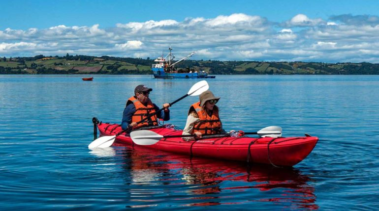 Kayak en Chiloé